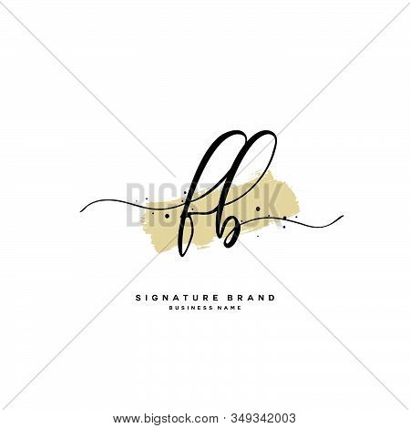 F B Fb Initial Letter Handwriting And  Signature Logo. A Concept Handwriting Initial Logo With Templ