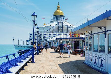 Eastbourne, East Sussex, Uk - May 23 : View Of Eastbourne Pier In East Sussex On May 23, 2019