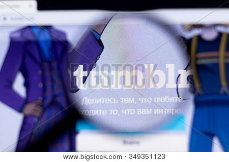 New York City, Usa - 5 February 2020: Tumblr Website Page Close Up, Illustrative Editorial