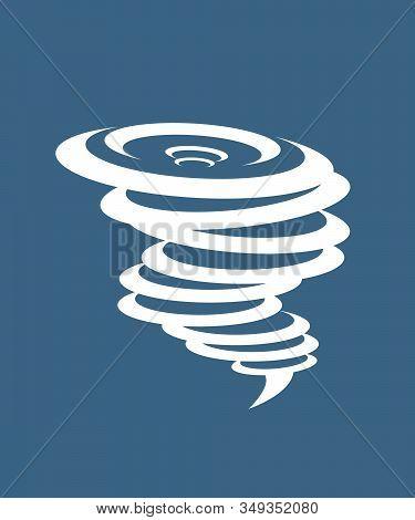 Tornado Icon. Simple Illustration Of Tornado Vector Icon For Web.whirlwind Sign. Tornado. Hurricane.