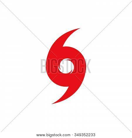 Hurricane Symbol, Abstract Hurricane Icon Vector Design.