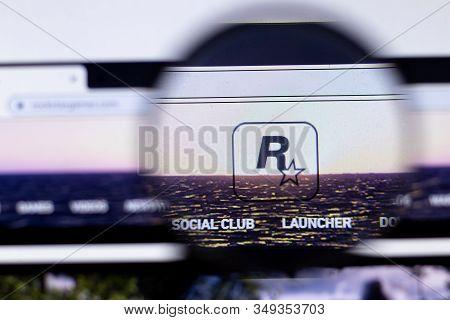 New York City, Usa - 5 February 2020: Rockstar Games Website Page Close Up, Illustrative Editorial