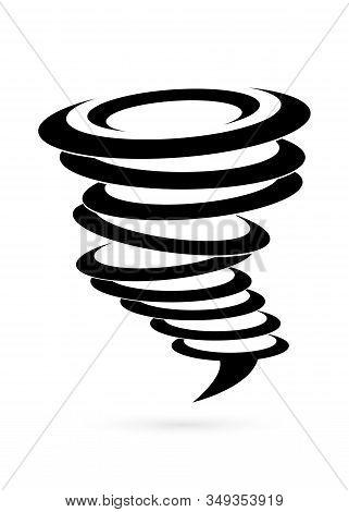 Tornado Icon. Tornado Storm Icon Isolated On White Background. Hurricane Icon. Weather, Nature, Envi