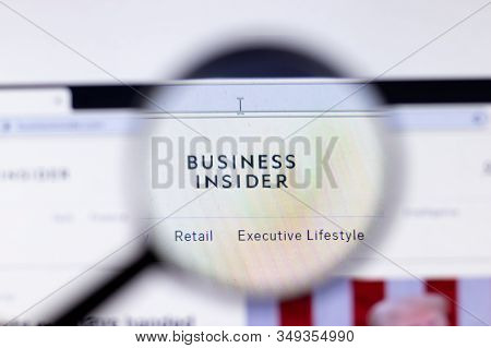 New York City, Usa - 5 February 2020: Business Insider Website Page Close Up, Illustrative Editorial