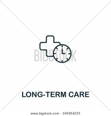 Long-term Care Icon From Elderly Care Collection. Simple Line Element Long-term Care Symbol For Temp