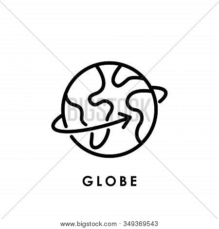 World Globe. Globe icon. Globe vector. Globe icon vector. Globe logo. Globe symbol. Globe web icon. World vector. Globe icon isolated on white background. World globe vector icon modern and simple flat symbol for website, mobile, logo, app, UI.