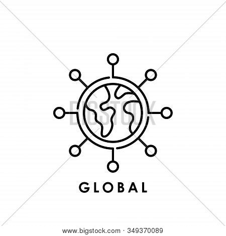 World Globe. Globe icon. Globe vector. Globe icon vector. Globe logo. Globe symbol. Global Network icon. World vector. Globe icon isolated on white background. World globe vector icon modern and simple flat symbol for website, mobile, logo, app, UI.