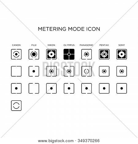 Camera Metering Mode Icon By Manufacture Vector