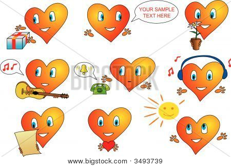 Icons With A Lot Of Hearts