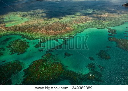 Bird View At The Great Barrier Reef In Australia