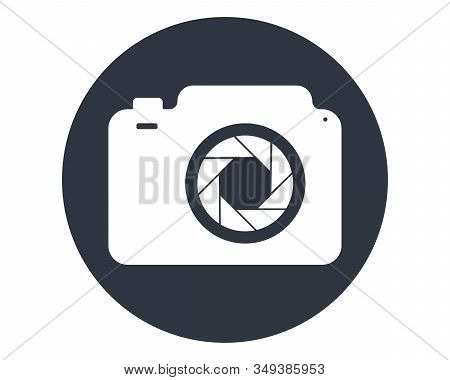 The Camera Icon. Photo And Diaphragm, Photographer, Photographic Symbol. Flat Vector Illustration. P