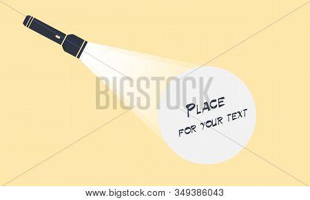Flashlight In Vector Flat Style. Flashlight Icon.vector Flat Flashlight Illustration.concept Of Flat