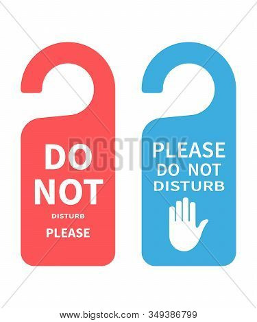 Hotel Door Hanger Tags, Messages - Please Do Not Disturb Sign.hotel Door Hanger Tags