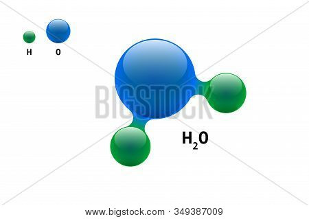 Chemistry Model Molecule Water H2o Scientific Element Formula. Integrated Particles Natural Inorgani