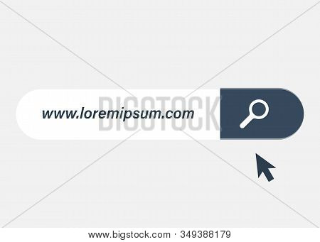 Www Search Bar Icon Isolated On White Background. Www Search Bar Icon For Web Site, App, Ui And Logo