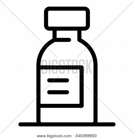 Dosage Syrup Icon. Outline Dosage Syrup Vector Icon For Web Design Isolated On White Background