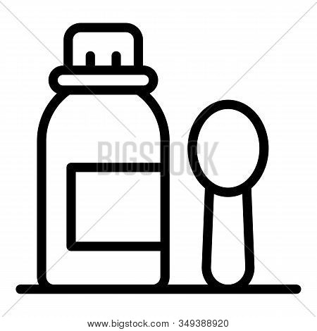 Mixture Syrup Icon. Outline Mixture Syrup Vector Icon For Web Design Isolated On White Background
