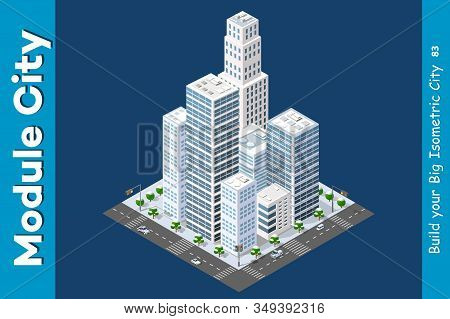 Isometric Of The Modern City Of Stock Illustration