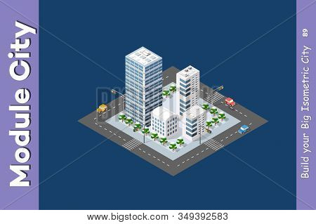Town District Of The City Of Stock Illustration