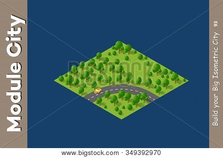 Landscape Speed Highway Of Stock Illustration And