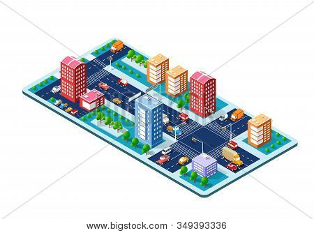 Isometric Module Is Area Landscape Speed Highway