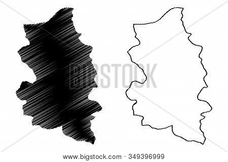 Podunavlje District (republic Of Serbia, Districts In Southern And Eastern Serbia) Map Vector Illust