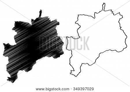Rasina District (republic Of Serbia, Districts In Sumadija And Western Serbia) Map Vector Illustrati