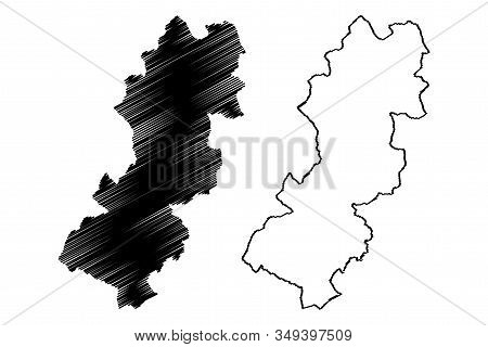 Raska District (republic Of Serbia, Districts In Sumadija And Western Serbia) Map Vector Illustratio