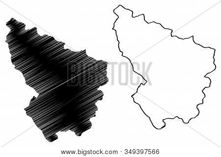 Sumadija District (republic Of Serbia, Districts In Sumadija And Western Serbia) Map Vector Illustra
