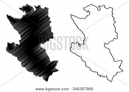 Zlatibor District (republic Of Serbia, Districts In Sumadija And Western Serbia) Map Vector Illustra