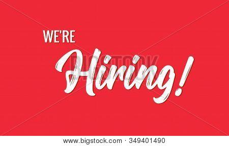 Hiring Banner Vector Background. Hr Hire Now Job Vacancy Recruitment Concept Poster