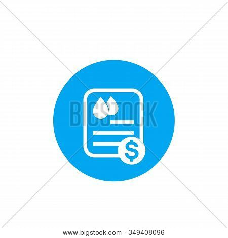 Water Utility Bill Icon, Vector, Eps 10 File, Easy To Edit