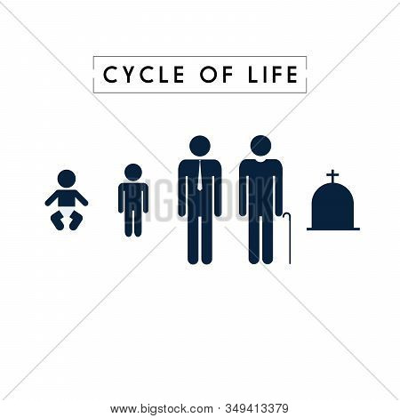 Human Life Baby Toddler Kid Child Student Graduate Work Retire Old Man Died Death