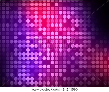 Fondo de puntos de color rosa y púrpura de múltiplos