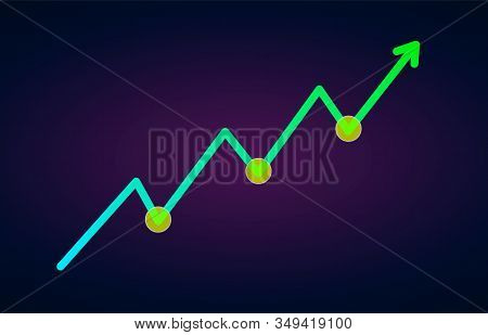 Uptrend Trend Definition Flat Icon - Bullish Chart Pattern Figure Technical Analysis. Vector Stock A
