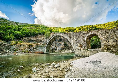 Old Ottoman Bridge With Thermal Baths Near Permet In Albania