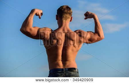 Bodybuilder Shape. Sexy Body. Triumph And Loss. Bigger Muscles Grow. Increase Overall Muscle Mass. M
