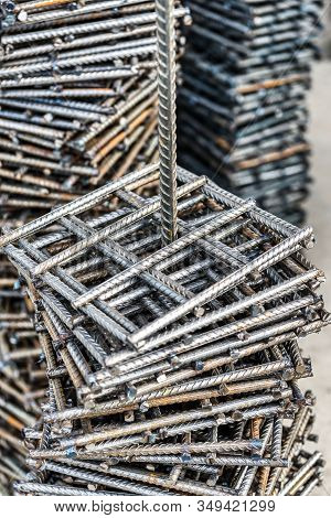 Embedded Elements From Steel Reinforcement. Reinforcing Bars Are Welded In The Form Of Mesh Squares