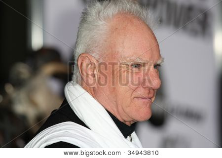 HOLLYWOOD - JAN 11: Malcolm McDowell attends The Book of Eli premiere on January 11 2010 at Grauman's Chinese Theater in Hollywood, California.