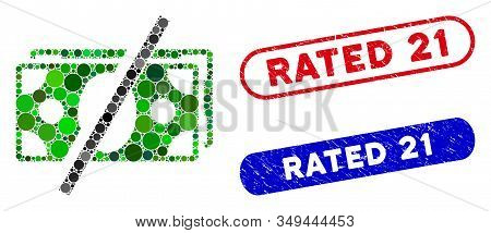 Mosaic No Fees And Corroded Stamp Watermarks With Rated 21 Phrase. Mosaic Vector No Fees Is Designed