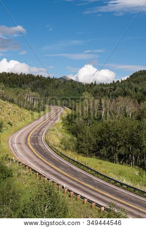 West Elk Loop Scenic Byway, Colorado 133 On Mcclure Pass 8,755 Feet. Located In Gunnison National Fo