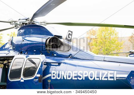 Detail Shot Of Federal Police (bundespolizei) Helicopter