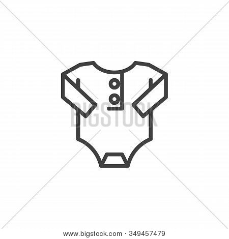 Baby Romper Line Icon. Jumpsuit Linear Style Sign For Mobile Concept And Web Design. Infant Bodysuit