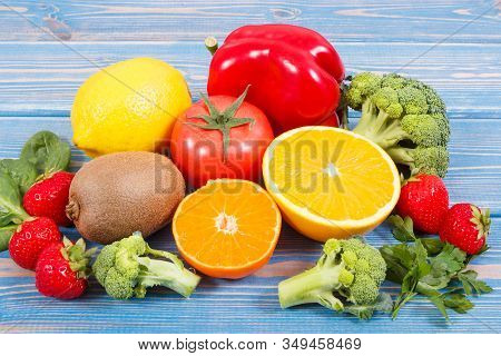 Fresh Fruits And Vegetables As Natural Sources Of Minerals Containing Vitamin C And Dietary Fiber, H