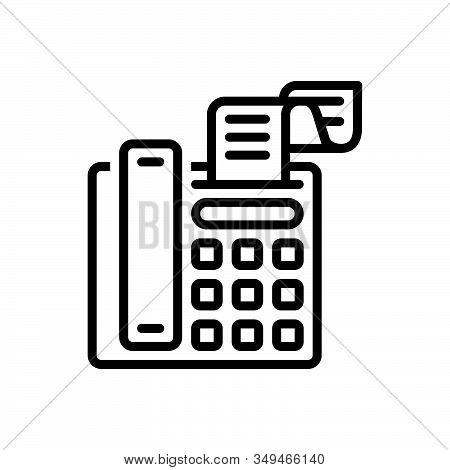 Black Line Icon For Fax-message Telecommunications Message Technologies Telefax Communication Fax Bi