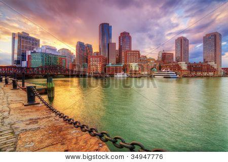 Skyline of downtown Boston, Massachusetts, USA