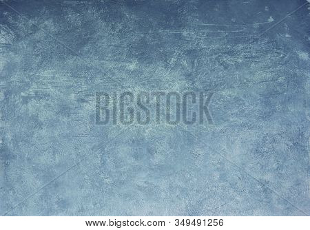 Artistic Chalk Pastel Texture Background. Abstract Blue Soft Pastel Painting Draft.