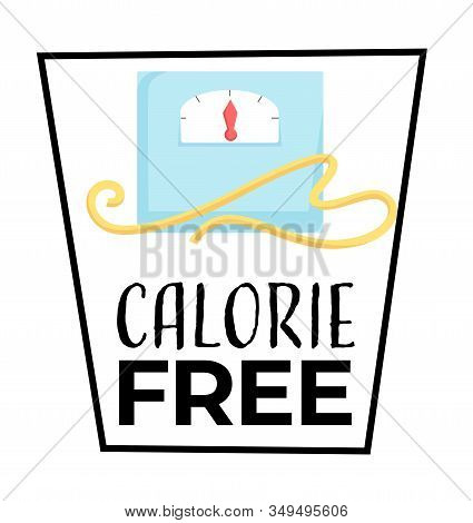 Dietary Food, Calorie Free Isolated Icon, Fitness Nutrition