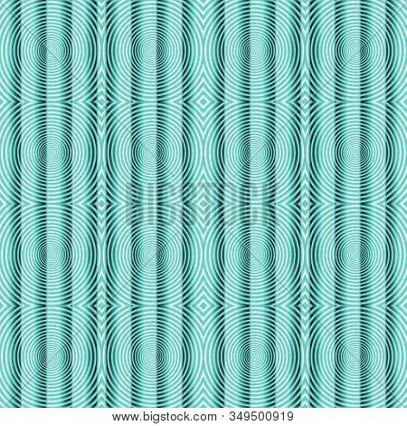 Hypnotic Spirals Fractal Seamless Psychedelic Pattern, Vortex Backgrounds. 3d Illustration For Tiles
