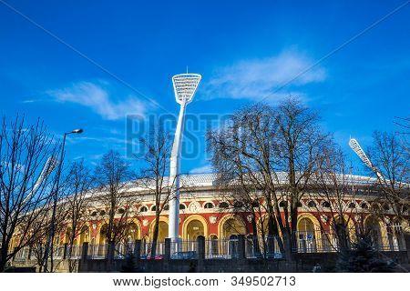 Minsk, Belarus. 09-03-2019, Dinamo City Stadium, Attraction. Sports Facilities Of The City, Editoria